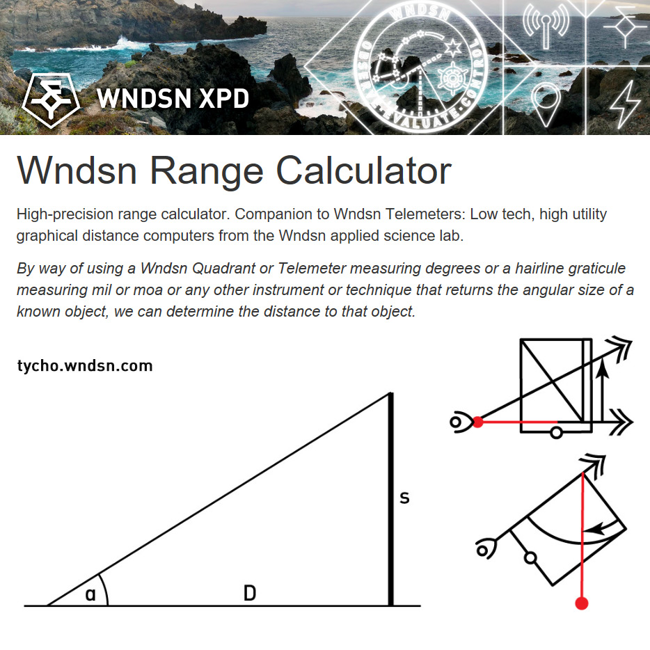 Wndsn Range Calculator Web App